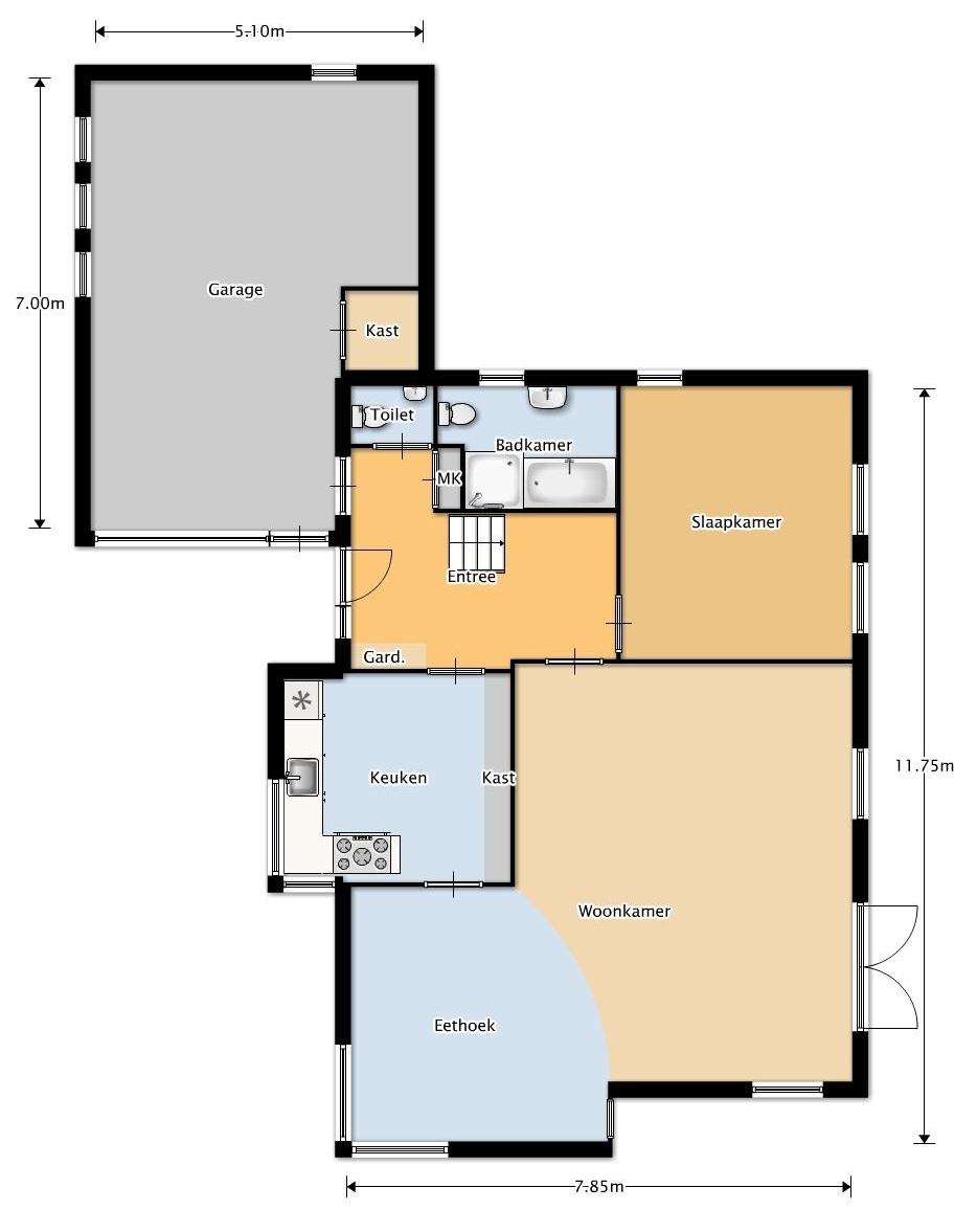 2d en 3d plattegronden for Plattegrond huis tekenen